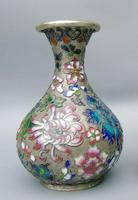 Pretty Pair of Chinese Cloisonne Champleve Vases (5 of 9)