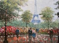 Lovely Pair of Original 20th Century French Parisian Gouache Cityscape Paintings (14 of 19)