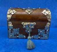 Victorian Brassbound Walnut Box c.1850 (2 of 10)