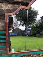 Antique Walnut & Parcel Gilt  Wall Mirror (4 of 6)