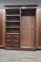 Victorian mahogany double wardrobe (2 of 4)