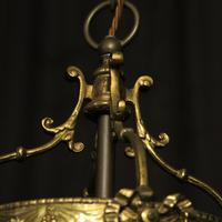 French Convex Gilded Twin Light Antique Lantern (6 of 10)