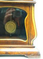 Fantastic Art Nouveau Mantle Clock Tulip Floral Inlay 8 Day Mantle Clock (7 of 10)
