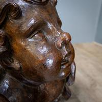 Large Walnut Head of Putto (6 of 8)