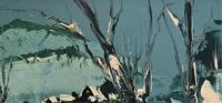 George Richard Deakins Superb Winter Landscape Oil Painting (7 of 11)