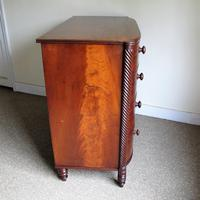 Mahogany Bow Front Chest of Drawers (5 of 6)