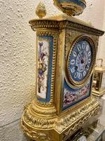 Fine Quality French Ormolu & Porcelain-mounted Mantel Clock by J.B. Delettrez (4 of 5)