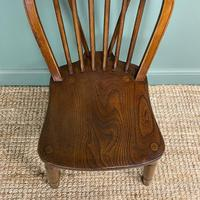 Eight Country House Elm Antique Kitchen Chairs (4 of 8)
