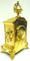 Fine French Ormolu Cubed Mantel Clock Classic 8 Day Striking Mantle Clock (4 of 10)