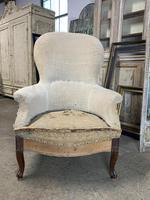 Antique French Balloon Back Armchair (5 of 6)