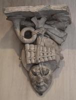 Set of Three Georgian Plaster Wall Brackets (10 of 13)