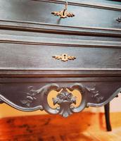 French Antique Style Cabinet / Black Cupboard / Louis XV Style (7 of 10)