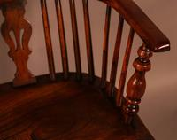 Yew Wood High Back Windsor Chair Rockley Made (7 of 9)