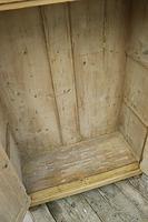 Lovely Old Stripped Pine Food Cupboard / Linen / Larder / Storage  - We Deliver! (8 of 9)