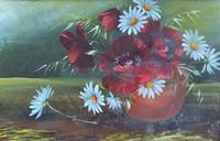 Attractive Matching Pair of 19th Century Oil Paintings Floral Still Life Study (7 of 8)
