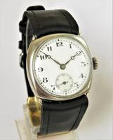 Gents silver cushion cased wrist watch, 1927 (2 of 5)