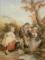 John Henry Mole Exhibition Quality Regency Period Watercolour Painting (2 of 13)