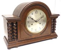 Solid Oak Hat Shaped Mantel Clock 8-day by Hac Westminster Chime (4 of 10)