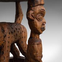 Antique Ceremonial Yoruba Stool, West African Hardwood Side / Lamp Table c.1900 (10 of 12)