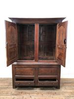 Large Antique 18th Century Welsh Oak Press Cupboard (M-808) (10 of 18)
