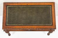 Victorian Carved Oak Writing Table (8 of 8)