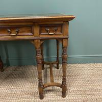Stunning Victorian Arts & Crafts Walnut Antique Desk (3 of 8)