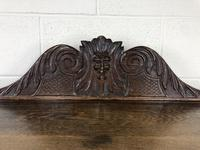 Victorian Gothic Oak Side Table with Green Man Details (6 of 17)