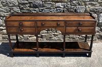 Antique Georgian Oak Potboard Dresser (28 of 28)