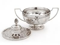William Comyns Edwardian Silver Potpourri Bowl (3 of 6)