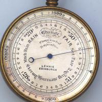 Antique Pocket Barometer with Hurricane Forecast by Lennie Edinburgh 19th Century (2 of 4)