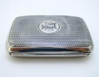 Edwardian 1902 English Antique Solid Sterling Silver Hip Pocket Small Cigarette Case (2 of 10)