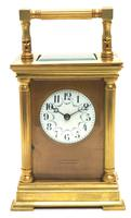 Antique Striking French 8-day Carriage Clock Unusual Masked Dial Case with Enamel Dial (3 of 11)