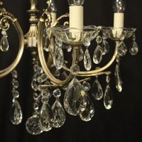 Italian 5 Light Silver Gilded Chandelier (7 of 10)