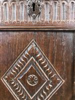 Antique 18th Century Oak Coffer With Carved Front (7 of 16)