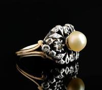 Antique Georgian Diamond & Pearl Ring, 18ct Gold (6 of 14)