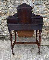 Antique Rosewood Inlaid Writing Desk (15 of 19)
