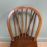 Eight Country House Elm Antique Kitchen Chairs (8 of 8)