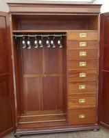 Edwardian Gentleman's Mahogany Wardrobe Compactum by Merryweather, London (3 of 13)