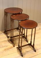 Circular Mahogany Nest of Three Tables (7 of 9)