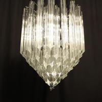 Italian Venini Crystal Triple Light Chandelier (3 of 10)
