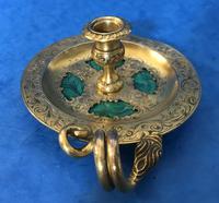 Victorian Gilt Brass Malachite Stationary Desk Set (11 of 17)