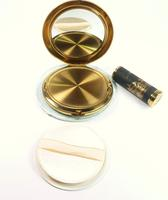 1950s Japanese Vanity Set With Original Lipstick Holder And Compact Mirror Unused (4 of 8)