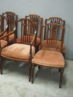 Set of 8 Hepplewhite Style Dining Chairs (10 of 11)