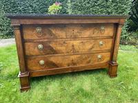 French Empire Commode in Figured Walnut (7 of 7)