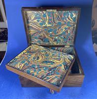 Victorian Walnut Jewellery Box (12 of 12)