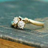 The Antique Old European Cut Diamond Toi Et Moi Ring (6 of 6)