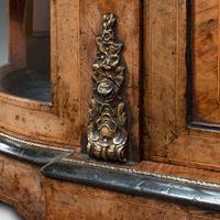 Antique Credenza, English, Burr Walnut, Sideboard, Display Cabinet, Regency (12 of 12)