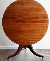 Fine quality Georgian mahogany tilt top dining table (5 of 9)