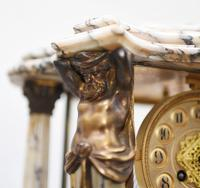 Antique Mantle Clock Set Garniture French Empire Urns (24 of 27)