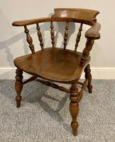 Antique Elm Smokers Bow Armchair